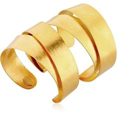 Hervé Van Der Straeten Women Intemporelle Wide Bands Cuff Bracelet (£485) ❤ liked on Polyvore featuring jewelry, bracelets, gold, hervé van der straeten, gold tone jewelry, cuff bangle, hinged cuff bracelet and bangle cuff bracelet
