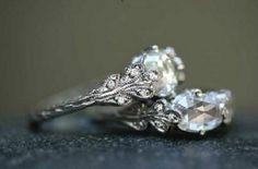 Beautiful vintage inspired engagement rings.