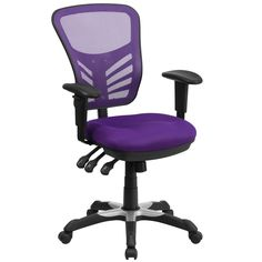The U201cMensau201d Cool Desk Chairs (in Purple) Feature Exceptional Comfort And A