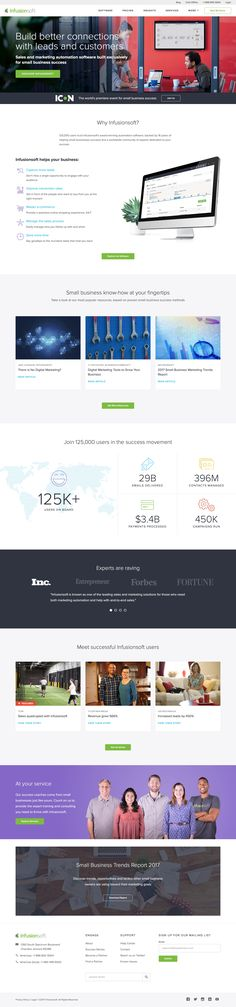 InfusionSoft Churn Rate, Web Design Inspiration, Lp, Landing