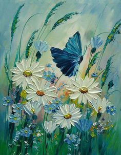 Oil painting Flowers art cool flower paintings relief painting on canv – thepaintart paintings nature Oil painting Flowers art cool flower paintings relief painting on canvas simple wall art painting canvas wall art Butterfly Painting, Oil Painting Flowers, Texture Painting, Flower Paintings, Butterfly Canvas, Easy Paintings, Simple Wall Art, Acrylic Art, Acrylic Painting Canvas