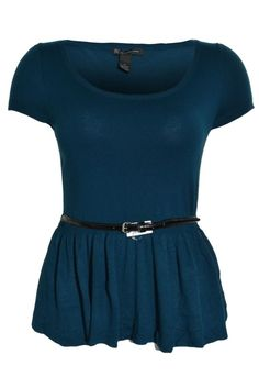 INC International Concepts Tunic XL Top Cap Sleeve Peplum Belt Scoop Neck NEW #INCInternationalConcepts #Tunic #Casual
