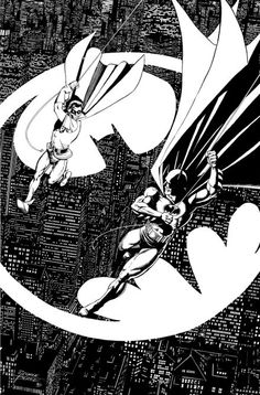the greatest drawing of Batman and Robin by George Perez