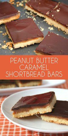 Low carb Peanut Butter Caramel Shortbread Bars - grain-free THM LCHF Keto carbs per serving Low Carb Sweets, Low Carb Desserts, Just Desserts, Dessert Recipes, Caramel Shortbread, Shortbread Bars, Tapas, Desserts Sains, Keto Bars