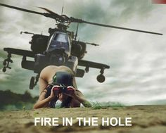 Apache helicopter humour