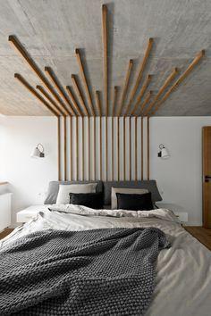 MODERN DECOR BEDROOM | Use decorative wood feature doubles as lighting| www.bocadolobo.com/ #bedroomdecorideas #modernbedroom