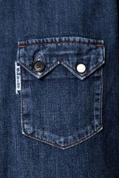 A/W 15/16 Distilled: women's denim BLUE BLUE SAWTOOTH FOLK POCKET