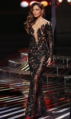 Nicole Scherzinger has been spotted during X Factor (UK) wearing a couture gown from the latest Fall/Winter collection by Lebanese designer…