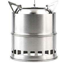 Portable Stainless Steel Camping Stove Outdoor Wood Stove Firewoods Furnace Lightweight BBQ Picnic Solidified Alcohol Stove new * Learn more by visiting the image link.
