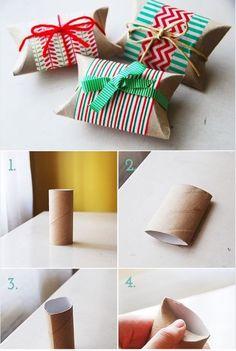boite cadeau à partir d'un rouleau de papier toilette