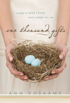Took a while for me to read it through but such good content, good reminders and a beautiful lesson. One Thousand Gifts | Ann Voskamp