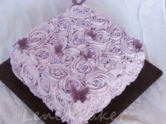 Lenes Kakeverden: Lilla rose swirls