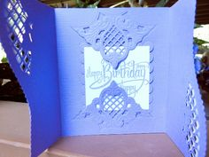 Inside of Lovely Lilac BD card by jasonw1 - Cards and Paper Crafts at Splitcoaststampers