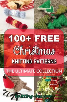 Jan 2020 - Free Christmas Knitting Patterns - The Ultimate Resource. Every free Christmas knitting pattern you could ever want is right here at your fingertips! Lace Knitting Stitches, Baby Cardigan Knitting Pattern, Beginner Knitting Patterns, Knitting For Beginners, Free Knitting, Knitting Toys Easy, Summer Knitting, Knitted Christmas Decorations, Knit Christmas Ornaments