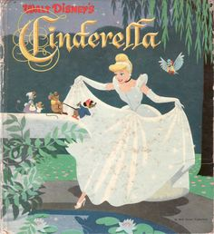 Walt Disneys Cinderella, a Cozy Corner Book with illustrations by the Walt Disney Studio. Copyright 1950 by Walt Disney Productions. Vintage Disney Posters, Retro Disney, Vintage Cartoons, Disney Art, Cinderella Book, Walt Disney Cinderella, Retro Wallpaper, Disney Wallpaper, Loup Tex Avery