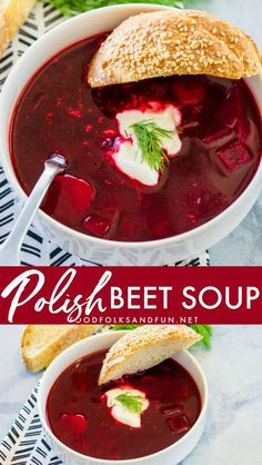 Polish Beet Soup Polish Beet Soup, Barszcz or Borscht, is an easy and delicious vegetable-packed soup that is bright in color and flavor! Your family will love this sweet and sour soup. Beet Recipes, Easy Soup Recipes, Polish Recipes, Vegetarian Recipes, Cooking Recipes, Polish Food, Polish Desserts, Polish Nails, 3d Nails