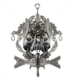 Isolated silver skull composition. Stock Photos #AD ,#skull#silver#Isolated#Photos Photography Backdrop Stand, Backdrops, Composition, Skull, Clip Art, Stock Photos, Antiques, Business, Silver