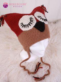 Uglelue oppskrift til flere størrelser - Hekleguri Design Winter Hats, Crochet Hats, Design, Fashion, Threading, Photo Illustration, Knitting Hats, Moda, La Mode