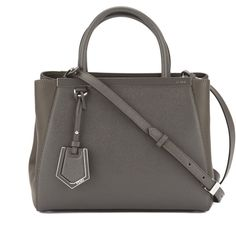 Fendi Black Leather Petite 2jours Bag (new With Tags) (8.510 DKK) ❤ liked on Polyvore featuring bags, handbags, fendi, genuine leather handbags, leather satchel, leather satchel handbags and handbag satchel