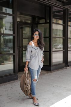"""Days when it takes hours to achieve the """"effortless"""" look // #WCOgirlgang Sheryl Luke decked out in silver"""