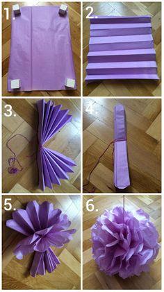 make it with heart: Návod na handmade pom-pom, číslice,korunky a girla...