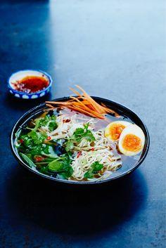 Chicken Ramen & Asian Eggs | Food Busker Recipe