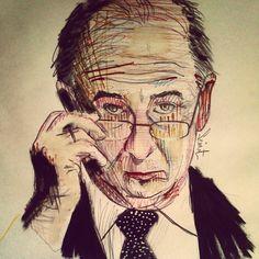 Rodrigo Rato . Illustration by Semat . 2014