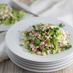 A light, fresh, crisp, spring inspired salad.  It's great served as a side dish, for a light lunch or pack it in your picnic basket.