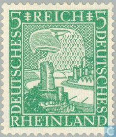 Timbres-poste - Empire allemand - Rheinland