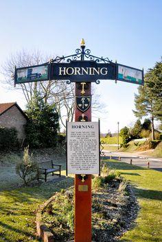 Image result for horning village sign