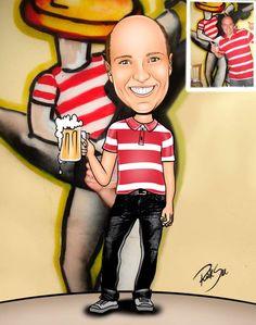 Caricaturas digitais, desenhos animados, ilustração, caricatura realista: Desenho individual , recriando uma foto !!