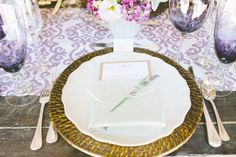 #chargers Photography by gladysjem.com Design + Planning by charmedeventsplanning.com Floral Design by poppyspetalworks.com  Read more - http://www.stylemepretty.com/2013/06/11/spring-inspired-love-shoot-from-charmed-events-group-gladys-jem-photography/