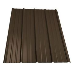 Metal Sales 16 Ft Classic Rib Steel Roof Panel In Burnished Slate 2313649 The Home Depot Roof Panels Steel Roof Panels Metal Roof Panels