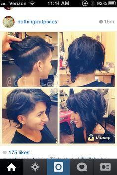A symmetrical and undercut my kind of haircut