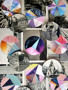 Mixed-media collages by Eva Eun-sil Han
