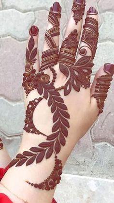 Henna Design By Fatima Dulhan Mehndi Designs, Mehndi Designs Finger, Khafif Mehndi Design, Floral Henna Designs, Back Hand Mehndi Designs, Mehndi Designs 2018, Mehndi Designs For Girls, Mehndi Designs For Beginners, Mehndi Design Photos