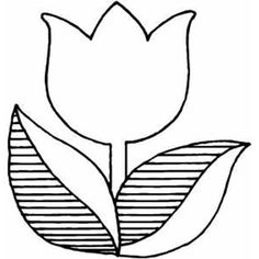 Tulips A Logo Version Of Tulip Coloring Page