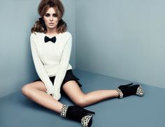 gravata borboleta / Cheryl-Cole-for-StylistPick #Makeup