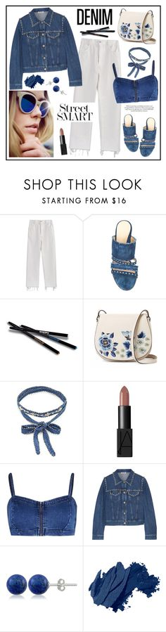 """Denim!"" by diane1234 ❤ liked on Polyvore featuring Rachel Comey, Marion Parke, Sisley, French Connection, Chan Luu, NARS Cosmetics, Miu Miu, Lord & Taylor and Bobbi Brown Cosmetics"