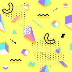 Memphis seamless pattern  Premium Vector Retro Background, Geometric Background, Background Patterns, 90s Pattern, Pattern Design, Retro Wallpaper, Iphone Wallpaper, Cool Patterns, Textures Patterns