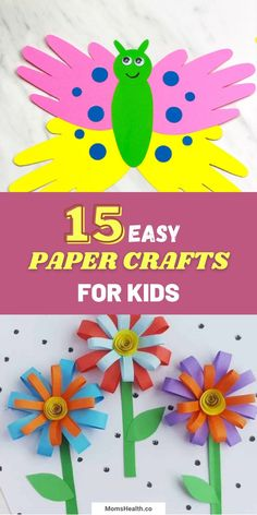 Paper Crafts for Kids for Spring and Summer
