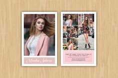 Model Comp Card Template-V363 by Template Shop on @creativemarket