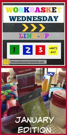 Autism Classroom News: January Workbasket Wednesday Link-up and a Freebie