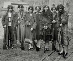 Drexel Institute's girls rifle team of 1925  They look like a rogue group of badasses!