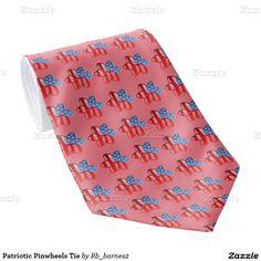 Patriotic Pinwheels Tie