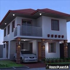 Two Story House Design, 2 Storey House Design, Simple House Design, Bungalow House Design, House Front Design, Modern House Design, Narrow House Designs, Latest House Designs, Philippines House Design