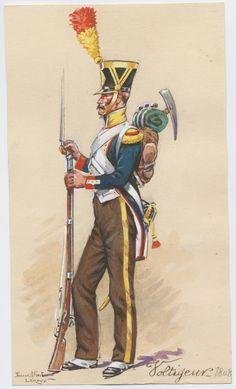 Volteggiatore di un rgt. di fanteria della linea, 1808