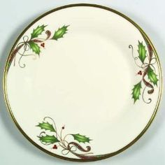 Lenox China Holiday Nouveau Gold Dinner Plate New by Lenox. $49.99. Brand new Lenox China Holiday Nouveau Gold Dinner Plate. Lenox Holiday Nouveau-Gold Dinner Plate - Holly, Berries, Plaid Ribbon Made in USA