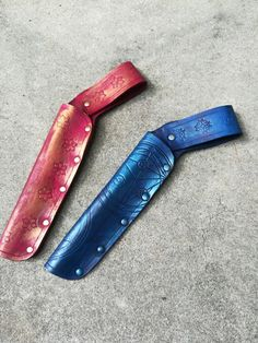 Hand tooled leather wand holsters!  www.etsy.com/shop/JAFantasyArt