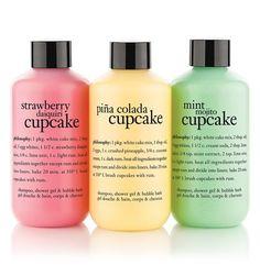 cake me to paradise | shampoo, shower gel & bubble bath set | philosophy bath & shower gels
